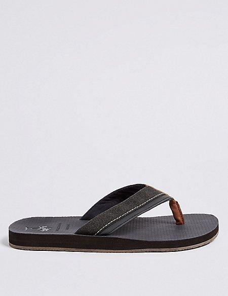 Perforated Slip-on Flip Flops