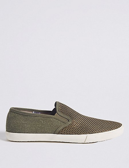 Marks and Spencer Canvas Slip-on Pump Shoes navy Discount Excellent Big Discount Cheap Price 8KtOjf7k