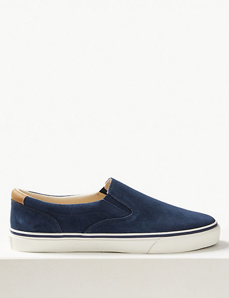 Suede Slip-on Pumps with Freshfeet™