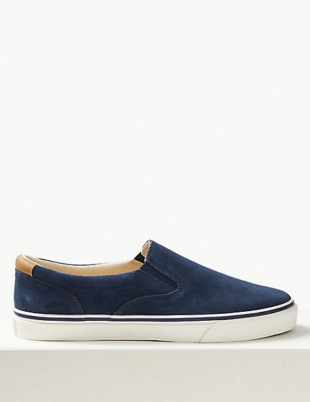 Suede Slip-on Pump Shoes with Freshfeet™