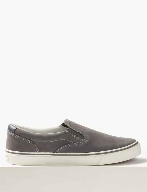 3b862569c845 Suede Slip-on Pump Shoes with Freshfeet™