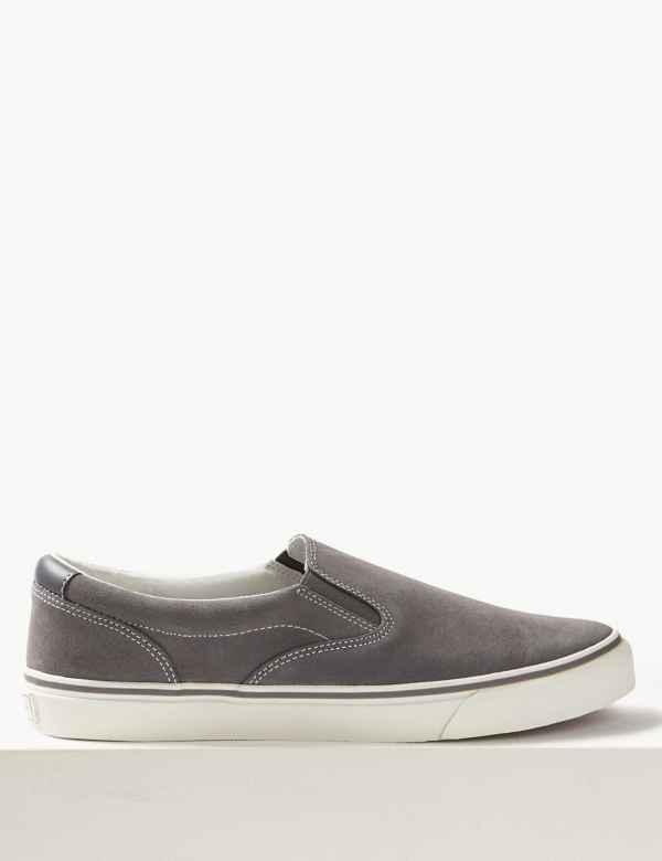 91e43e61ceb7 Suede Slip-on Pump Shoes with Freshfeet™