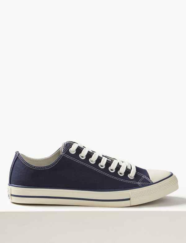 658e629a76a1f2 Canvas Lace-up Pump Shoes