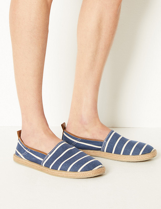 169bbc233 Cotton Slip-on Espadrilles | Casual shoes | Marks and Spencer AL