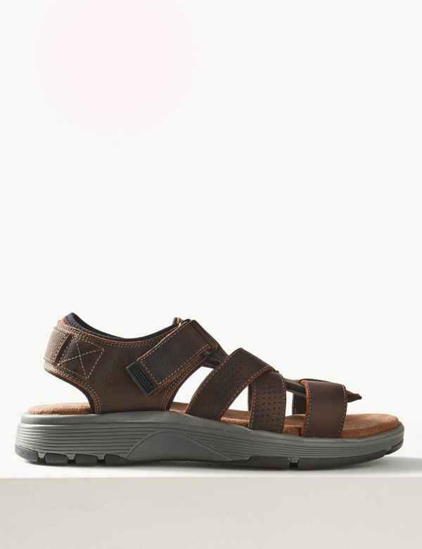8726b6650256 Leather Riptape Sandals
