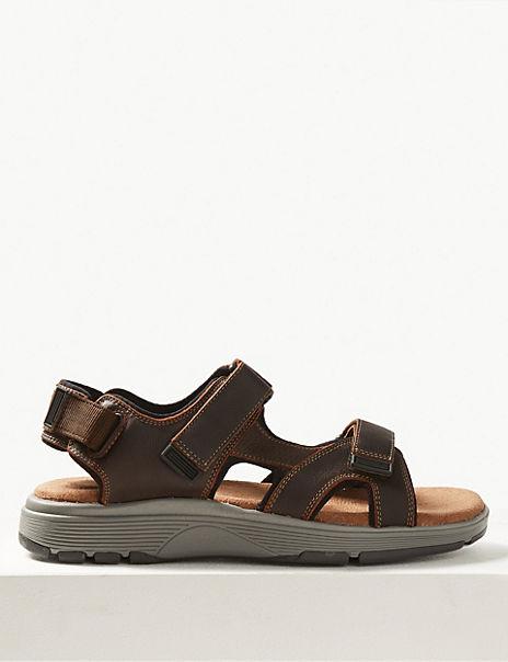 Leather Riptape Sandals