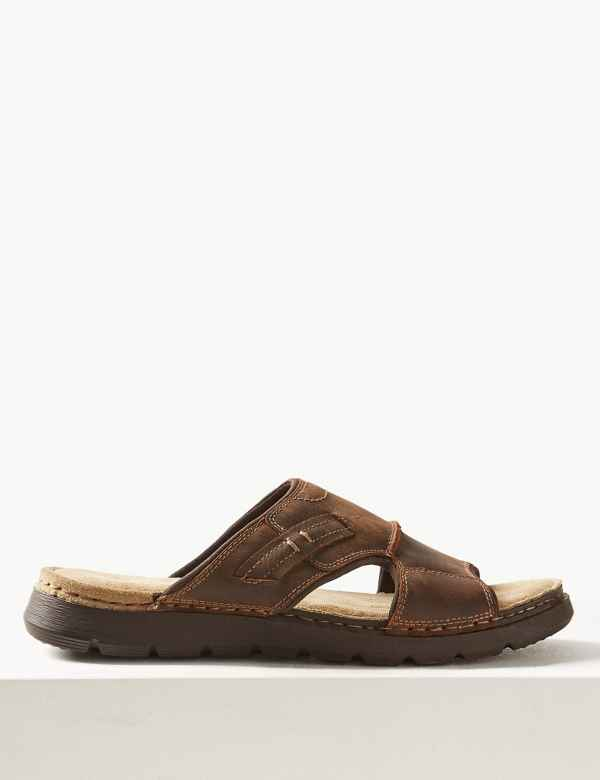 458fcd392 Leather Mule Sandals