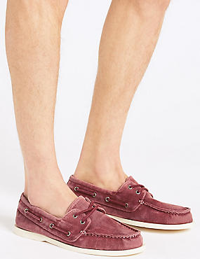 Lace-up Boat Shoes with Freshfeet™