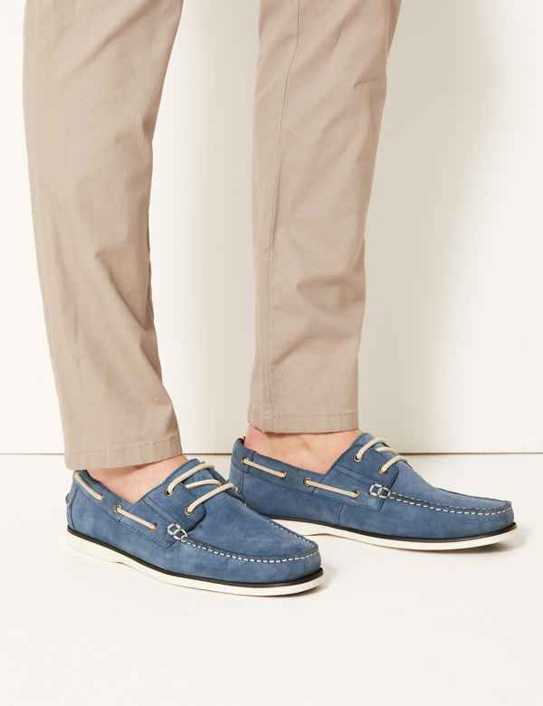 800c49633e994c Suede Lace-up Boat Shoes