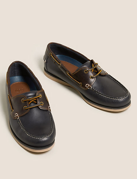 Leather Lace Up Deck Shoes