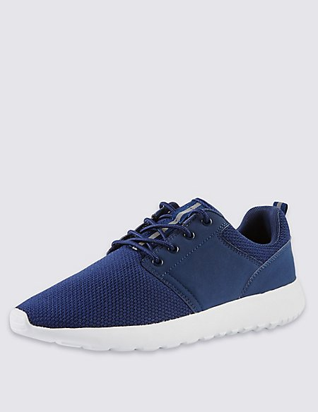Lace-up Mesh Trainers