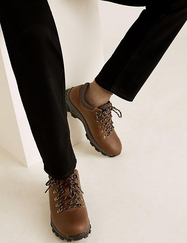 Waterproof Leather Walking Shoes