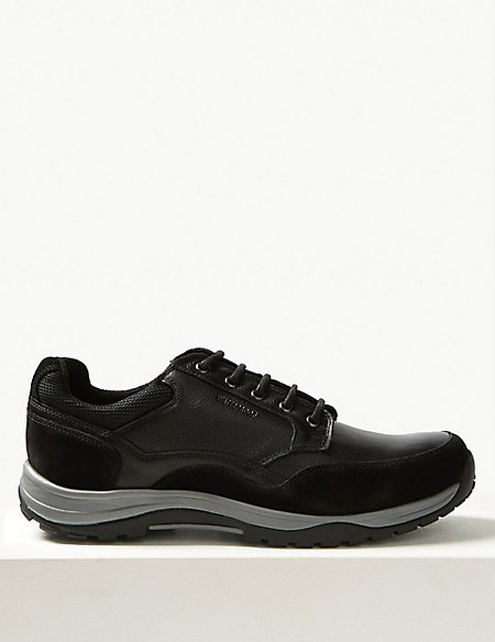 Leather Lace-up Active Walking Shoes