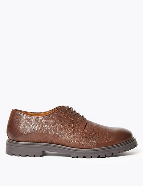 Tumbled Leather Gibson Derby Shoes