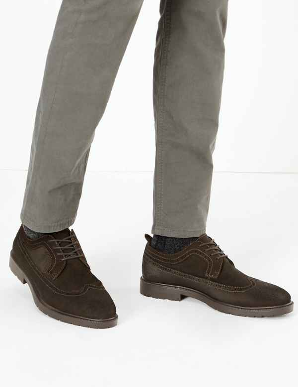 Oily Suede Heavyweight Brogues