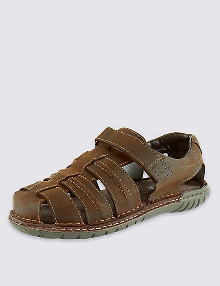 Airflex™ Leather Fisherman Sandals