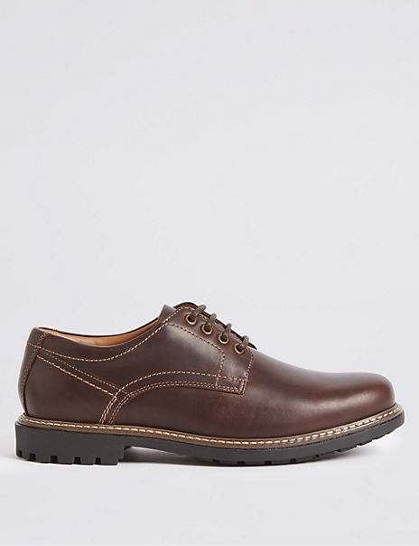 Big & Tall Leather Gibson Lace-up Shoes