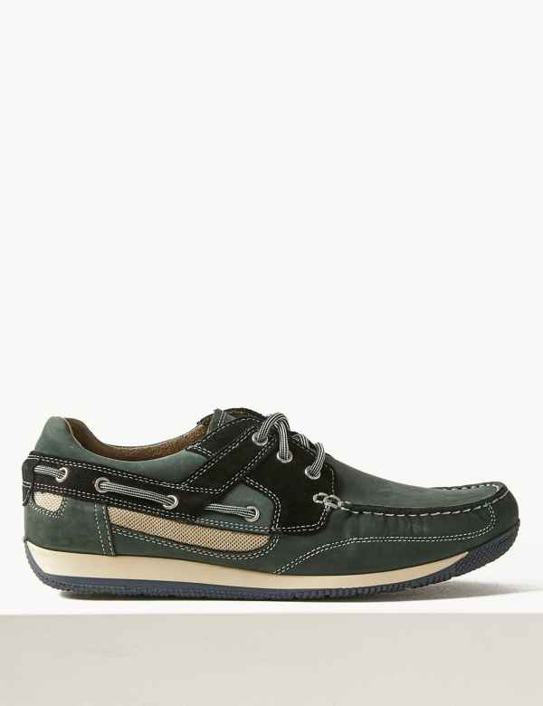 9c9c48ddd120a Leather Lace-up Boat Shoes