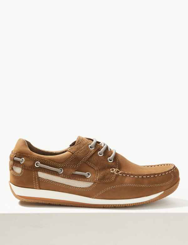 c87ac1d1e3b Leather Lace-up Boat Shoes