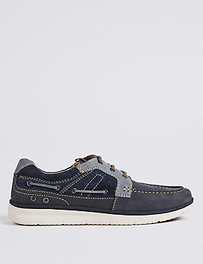 Big & Tall Leather Boat Shoes with Airflex™