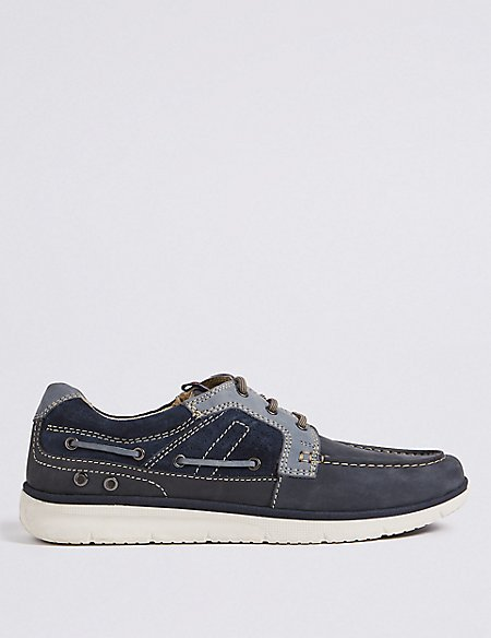 Free Shipping Authentic Cheap Huge Surprise Marks and Spencer Suede Lace-up Boat Shoes with Freshfeet navy Free Shipping Brand New Unisex Discount Manchester Outlet Newest fXlyCpwhtU
