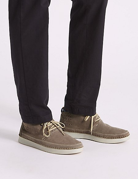 Suede Lace-up Chukka Boots with Airflex™