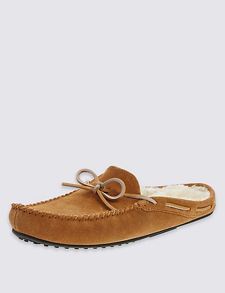 Suede Luxury Mule Slippers