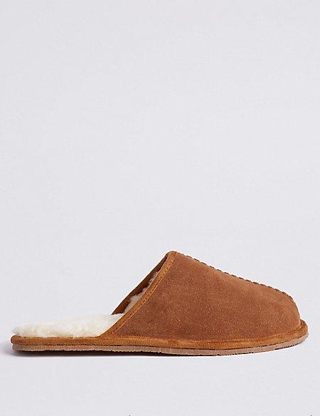 Suede Slip-on Mule Slippers with Freshfeet™