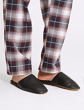 Leather Mule Slippers with Freshfeet™