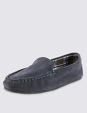 Suede Moccasin Slippers with Thinsulate™