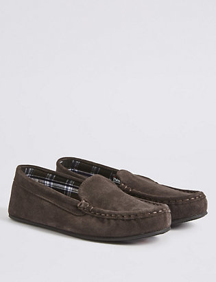 71b2ed826db7 ... Suede Moccasin Slippers with Thinsulate™. image. image