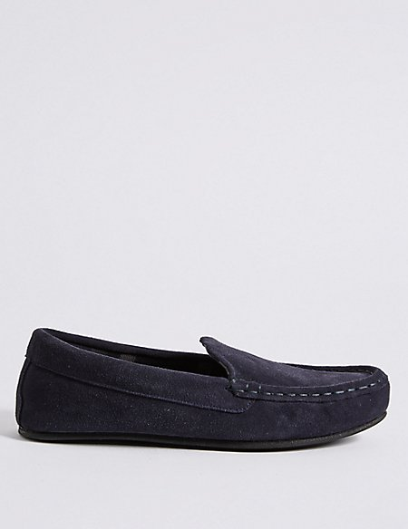 Big & Tall Suede Slippers with Thinsulate™