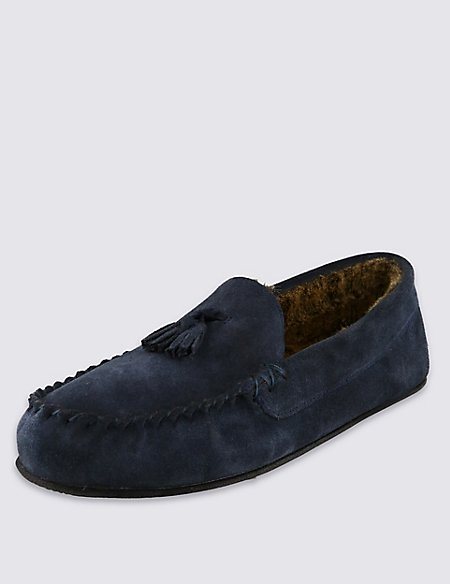 Suede Tassel Moccasin Slippers with Thinsulate™
