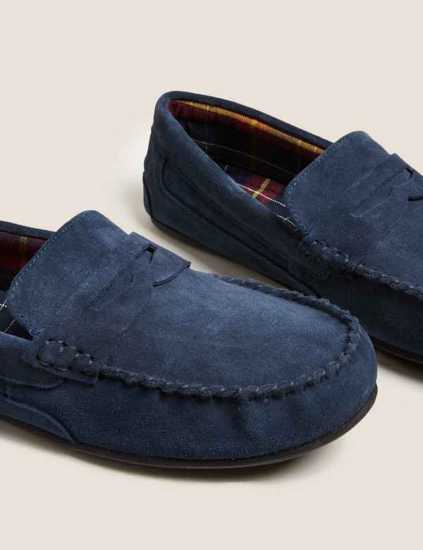 1887d927619bb5 Suede Slip-on Slippers with Freshfeet™