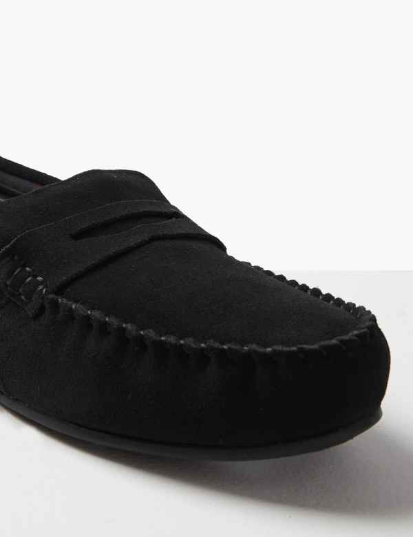 386810dfc74b98 Suede Slip-on Slippers with Freshfeet™