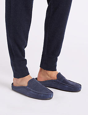 Suede Slip-on Mule Slippers with Freshfeet™