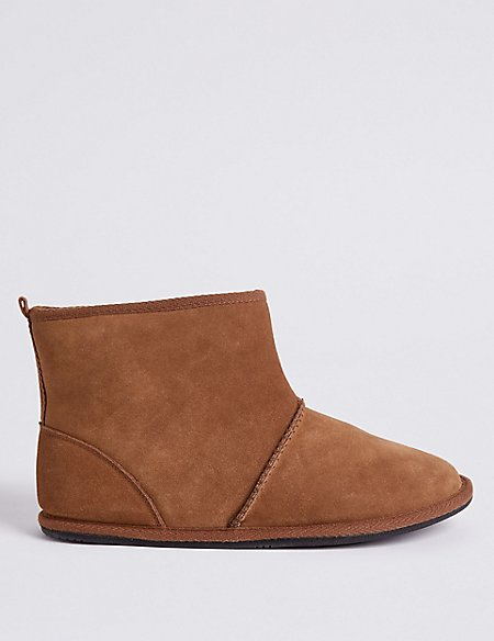 Suede Pull-on Slipper Boots with Freshfeet™