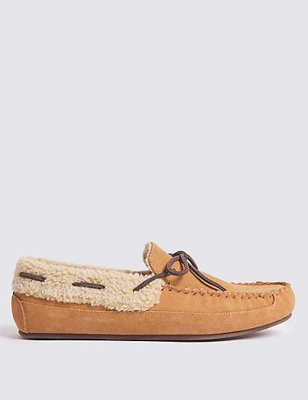 d5a2673eb2d Product images. Skip Carousel. Suede Moccasin Slippers ...