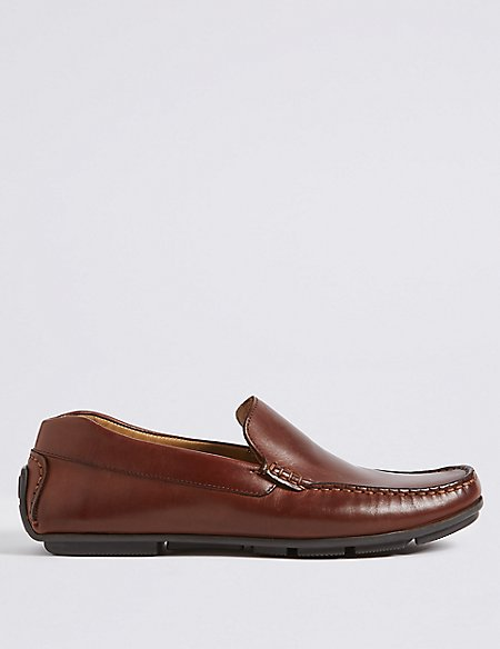 Leather Slip-on Driving Shoes