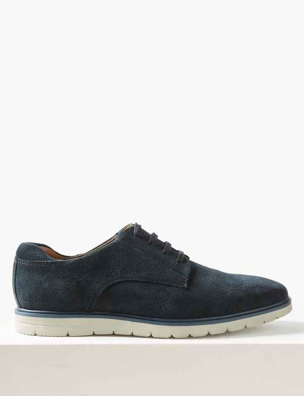 f974f6a9071b Suede Lace-up Derby Shoes