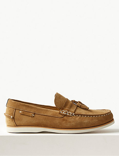 Suede Slip-on Tassel Loafers