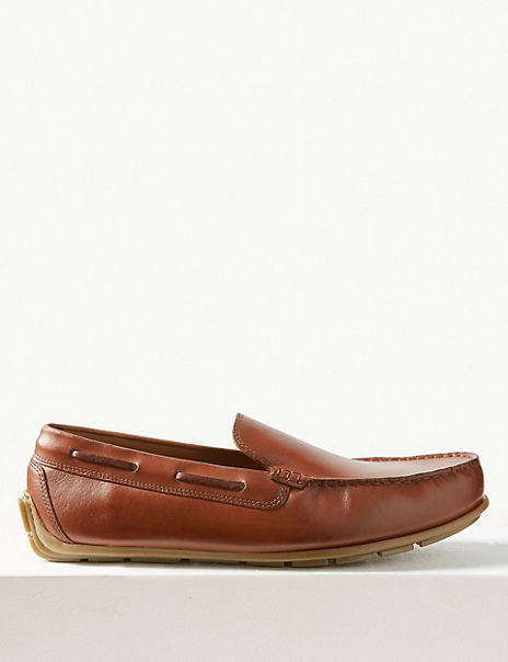 Leather Slip-on Drivers