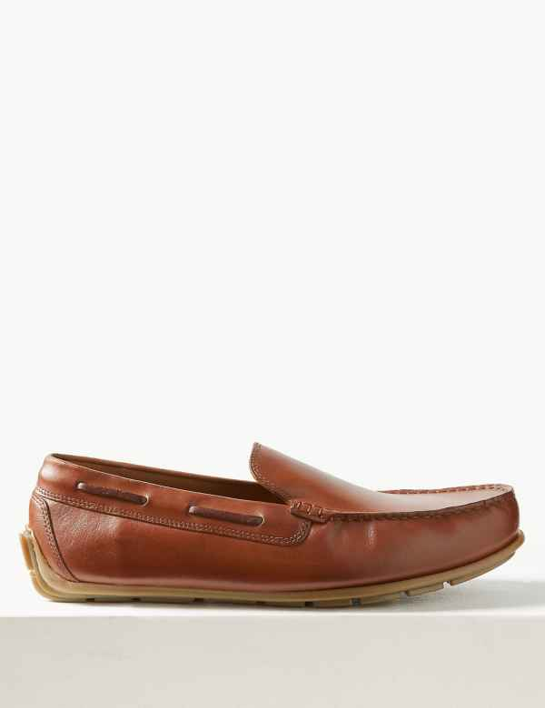1544abcced5bcf Leather Slip-on Boat Shoes