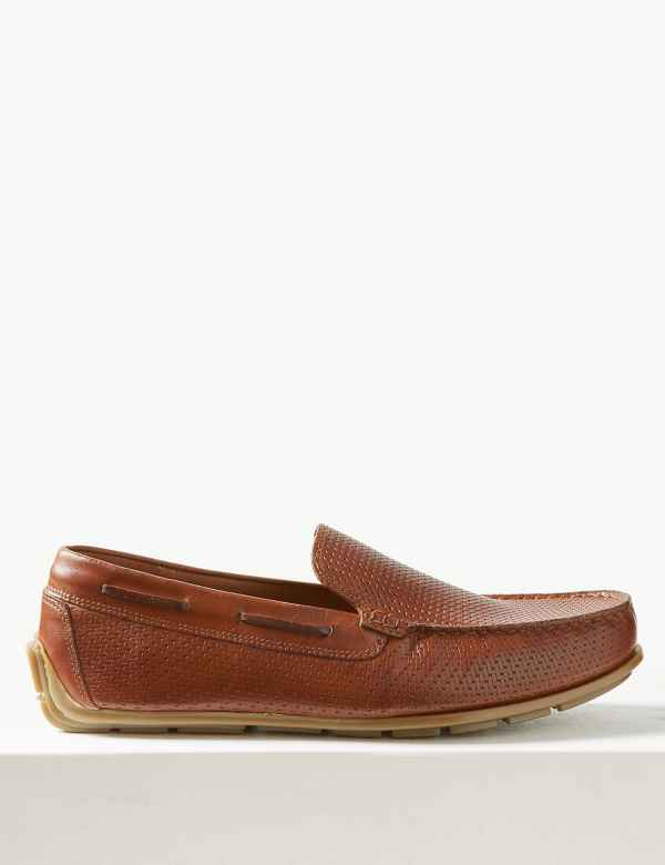 4de344ccbc Leather Slip-on Boat Shoes