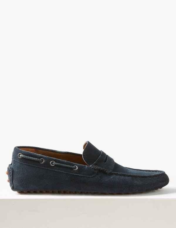 ed7d7600e90e6 Suede Slip-on Boat Shoes