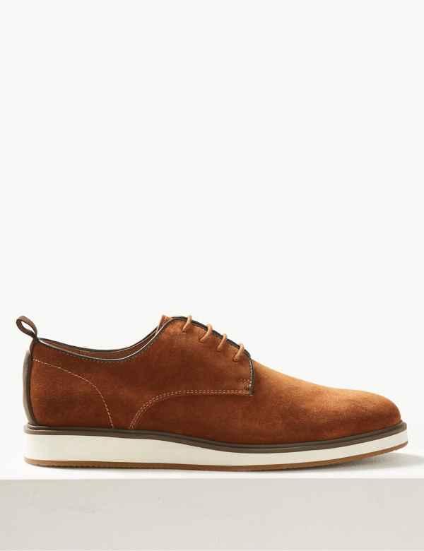 33d695de31f6 Suede Lace-up Derby Shoes