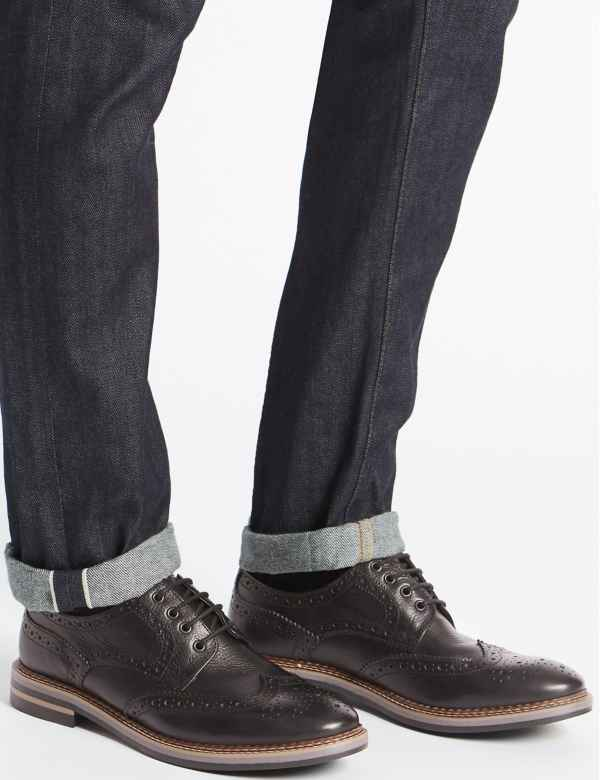 90328bbfe71 Leather Trisole Brogue Shoes. M S Collection