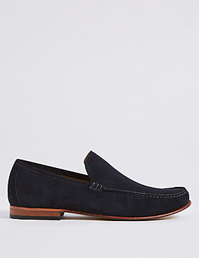 Suede Slip-on Loafers with Stain Resistance