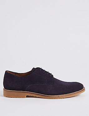 Suede Derby Shoes with Stain Resistance