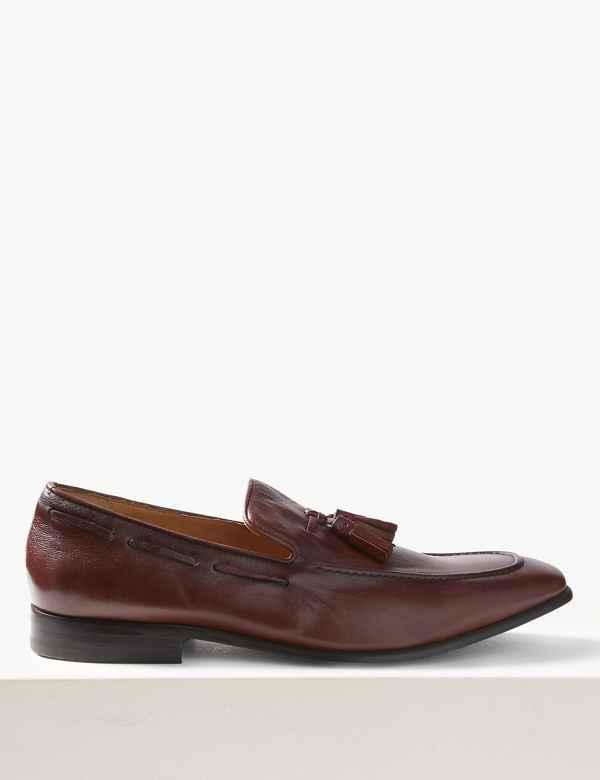 7f23b0dc16 Leather Slip-on Tassel Loafers